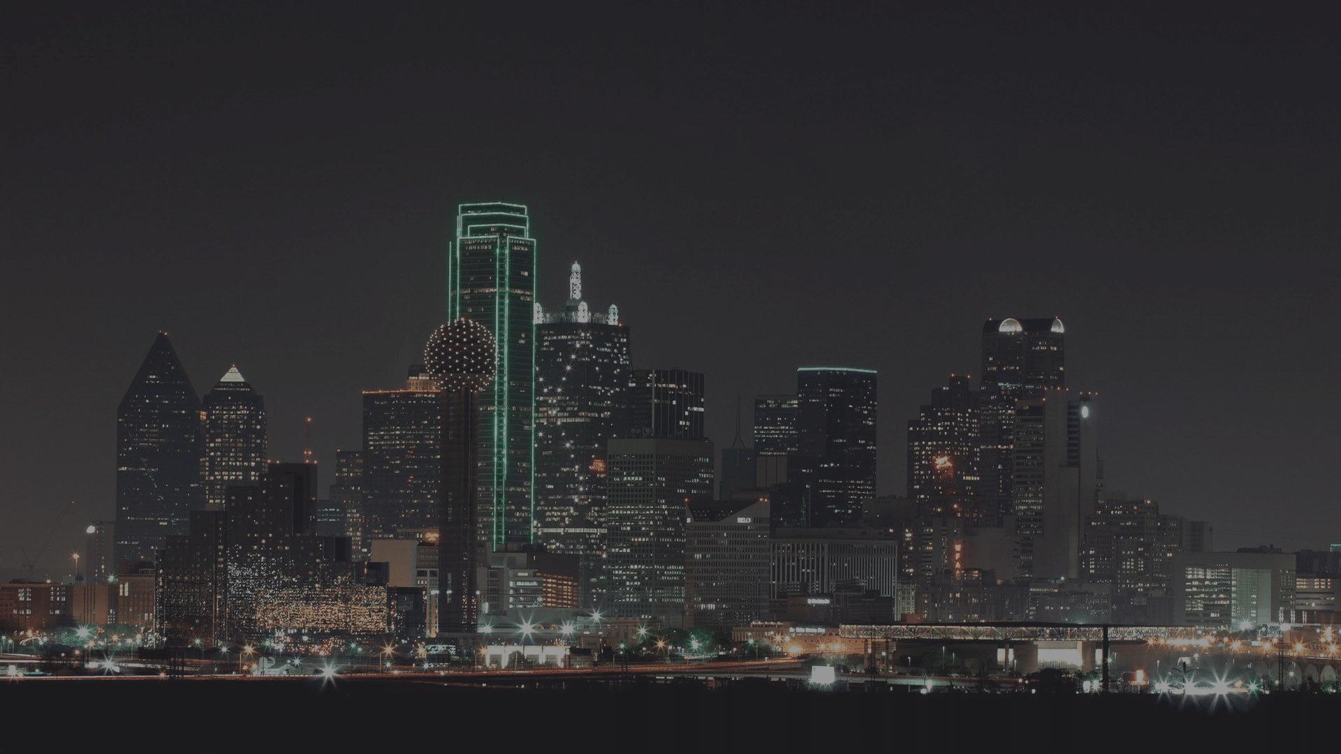 Dallas skyline with overlay